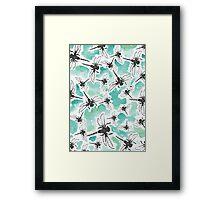Dragonfly Handmade Print Framed Print