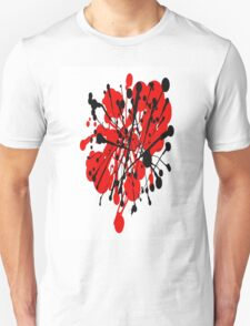 red and black abstract Unisex T-Shirt