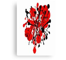 red and black abstract Canvas Print