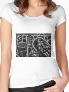 Old Brass Musical Instruments BW Women's Fitted Scoop T-Shirt