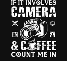 I Love Camera and Coffee Unisex T-Shirt