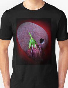 stone red hibiscus  Unisex T-Shirt