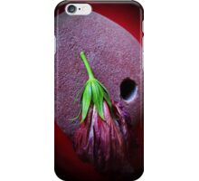 stone red hibiscus  iPhone Case/Skin