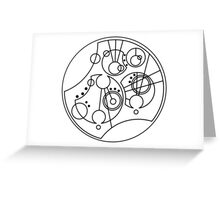 'Gallifrey Falls No More' in Gallifreyan Greeting Card