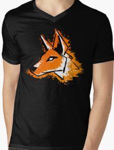 Splash Fox Mens V-Neck T-Shirt