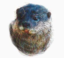 Cute Little Otter Face One Piece - Short Sleeve
