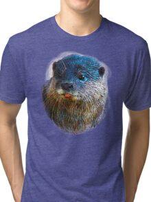 Cute Little Otter Face Tri-blend T-Shirt