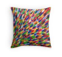 multi-coloured flash Throw Pillow
