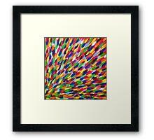 multi-coloured flash Framed Print