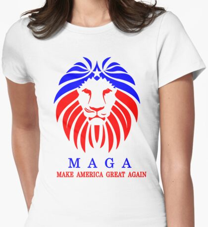 MAGA - LION Womens Fitted T-Shirt