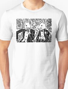 SPLIT HARES (black) Unisex T-Shirt