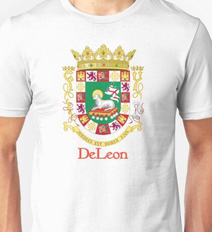 DeLeon Shield of Puerto Rico Unisex T-Shirt