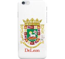 DeLeon Shield of Puerto Rico iPhone Case/Skin