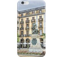 Independence Square in Girona (Catalonia) iPhone Case/Skin