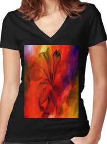 sunset and vine Women's Fitted V-Neck T-Shirt