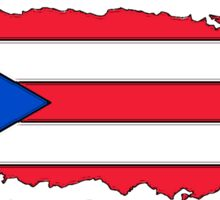 Puerto Rico map with Puerto Rican Flag Sticker