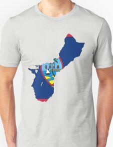 Guam Map with Guamanian Flag Unisex T-Shirt