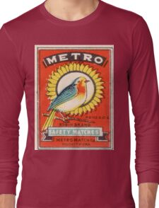 Vintage poster - Metro Matches Long Sleeve T-Shirt