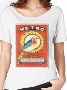 Vintage poster - Metro Matches Women's Relaxed Fit T-Shirt