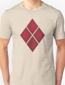 Red Diamond Patches with Inside stitching Unisex T-Shirt