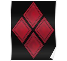 Red Diamond Patches with Inside stitching Poster