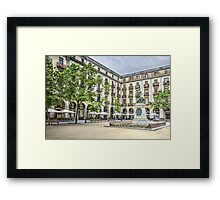 Independence Square in Girona (Catalonia) Framed Print