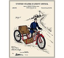 Motorcycle Sidecar Patent Photographic Print