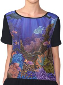 Underwater coral reef Chiffon Top