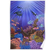 Underwater coral reef Poster