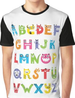 Alphabet Monsters poster Graphic T-Shirt