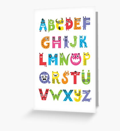 Alphabet Monsters poster Greeting Card