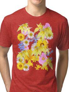 Yellow Daisy Tri-blend T-Shirt