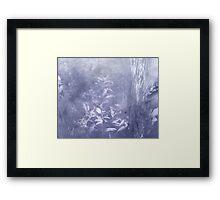 periwinkle blue rush Framed Print