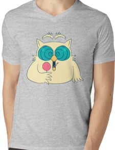 Mr. Owl Mens V-Neck T-Shirt