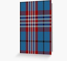 01324 US Postal Service Tartan  Greeting Card