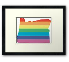 rainbow oregon Framed Print