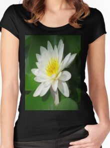 Water Lilly   Women's Fitted Scoop T-Shirt