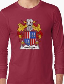 Dominguez Coat of Arms/ Dominguez Family Crest Long Sleeve T-Shirt