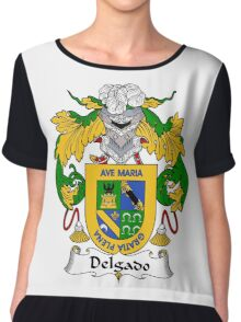 Delgado Coat of Arms/Family Crest Chiffon Top