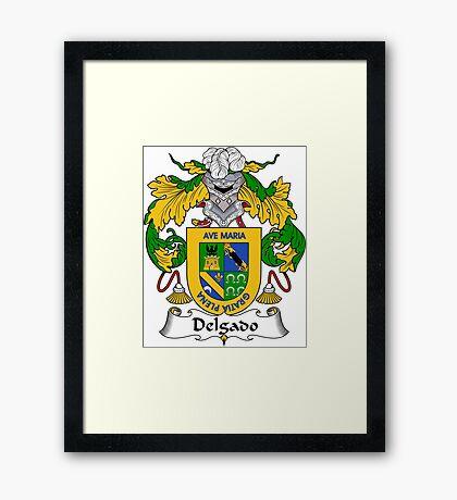 Delgado Coat of Arms/Family Crest Framed Print