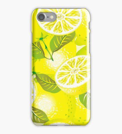 Lemon background iPhone Case/Skin