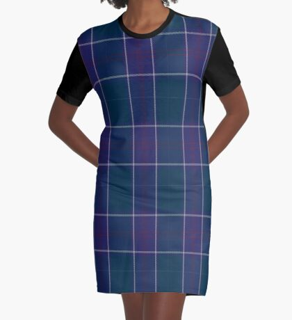 01318 US Navy Edzell Tartan  Graphic T-Shirt Dress