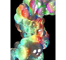 Rainbow 3D DNA Molecule Photographic Print