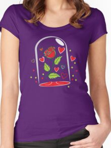 Withering Rose in a  glass jar Women's Fitted Scoop T-Shirt