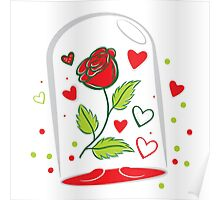 Withering Rose in a  glass jar Poster
