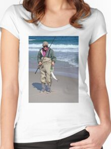 """Bringing home the """"bacon"""" - Fresh Bluefish Women's Fitted Scoop T-Shirt"""