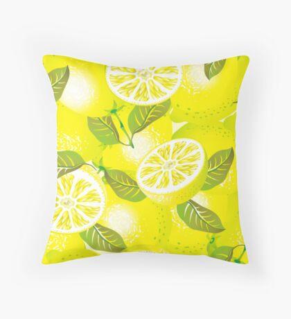 Lemon background Throw Pillow