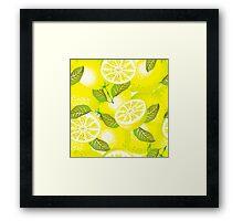 Lemon background Framed Print