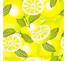 Lemon background Photographic Print