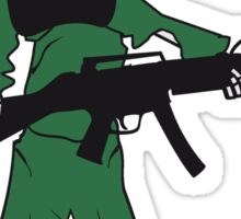 horror armee helm krieg zombie skelett böse soldat kämpfer waffe biohazard symbol zeichen  Sticker